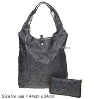 LEOPARD BLACK - Handybag Re-Usable Folding Eco Shopping Bag